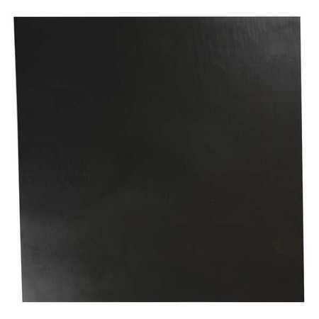 E. JAMES 1/16' Comm. Grade Neoprene Rubber Sheet, 12'x12', Black, 30A, 6030-1/16A