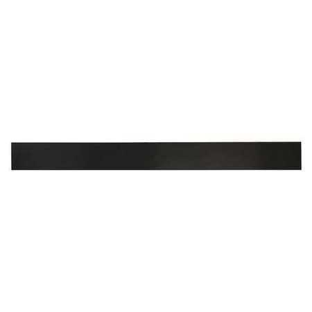 E. JAMES 3/4' Comm. Grade Neoprene Rubber Strip, 2'x36', Black, 30A, 6030-3/4X