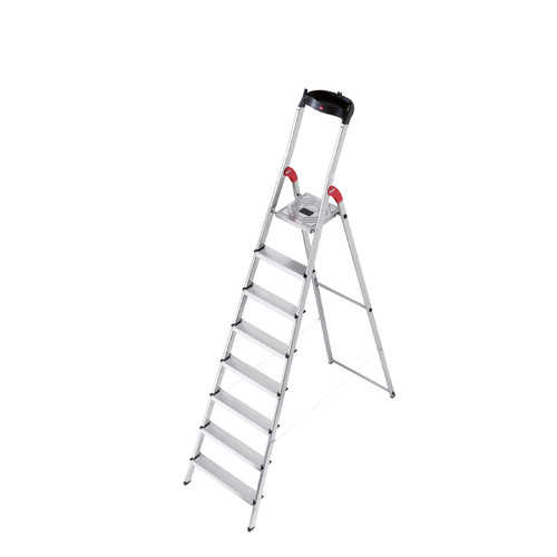 Hailo USA Inc. 7.64 ft Aluminum Step Ladder with 330 lb. Load Capacity