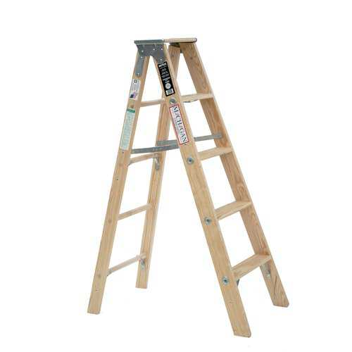 Michigan Ladder 5 ft Wood Step Ladder with 300 lb. Load Capacity