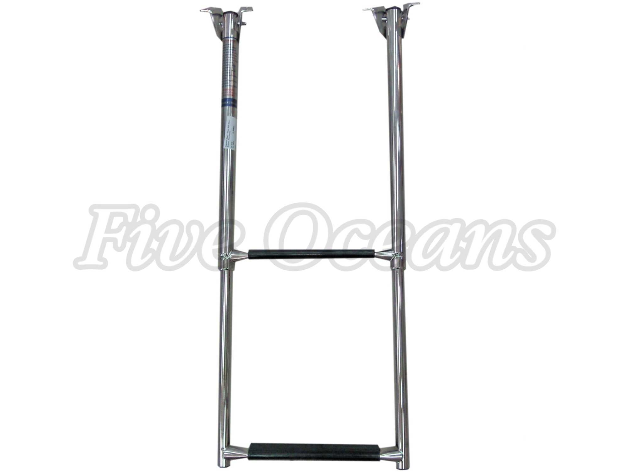 Five Oceans Stanless Steel 2 Steps Telescopic Ladder for Boat - BC 478