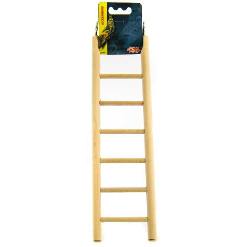 Living World Wood Ladders for Bird Cages 12.5' High - 7 Step Ladder - Pack of 4