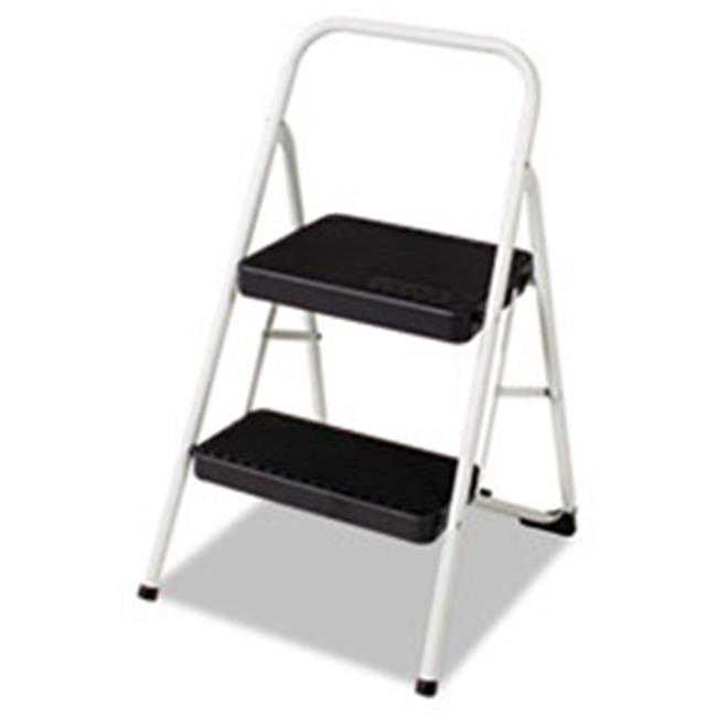 Csc 11135CLGG1 Two-Step All Steel Folding Step Stool, 220-lb., 17.38w x 18d x 28.13h, Gray