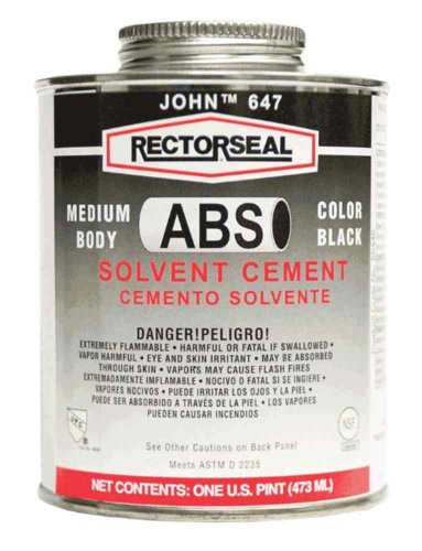 Rectorseal 55942 Pint 647L Low Voc Abs Solvent Cement