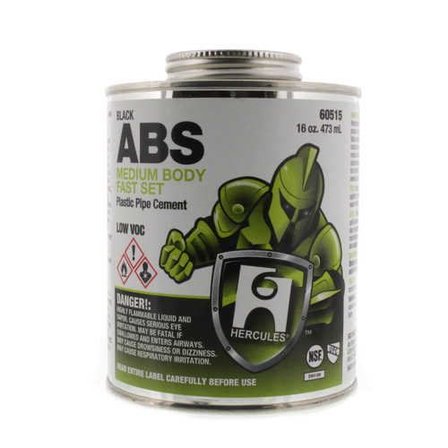 16 oz. Medium Body, Fast Set ABS Cement (Black)