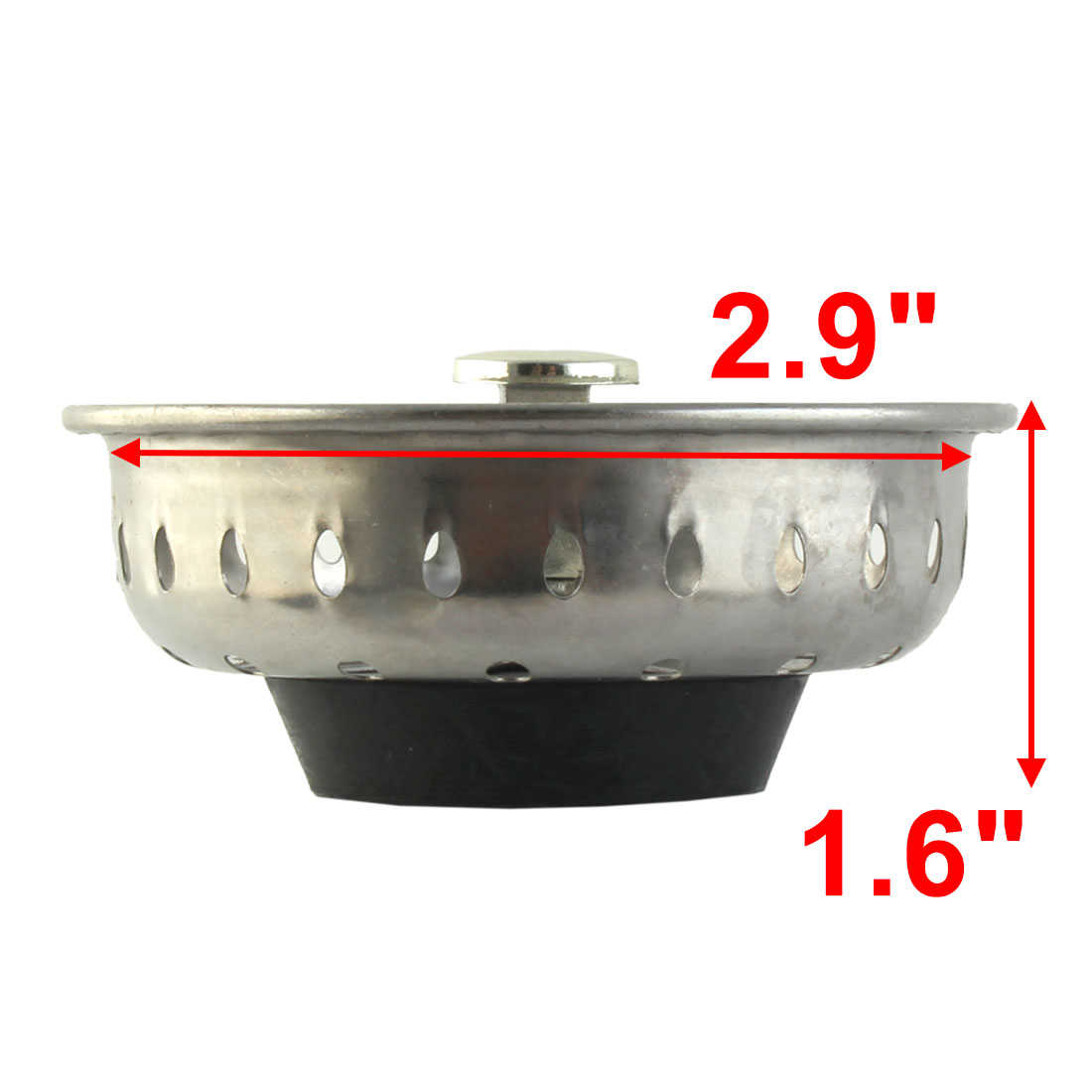 Unique Bargains Kitchen Garbage Sink Basin Stopper Filter Strainer Silver Tone for Home Essential