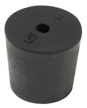 3-1H Stopper, 25mm, Rubber, Black, PK 40