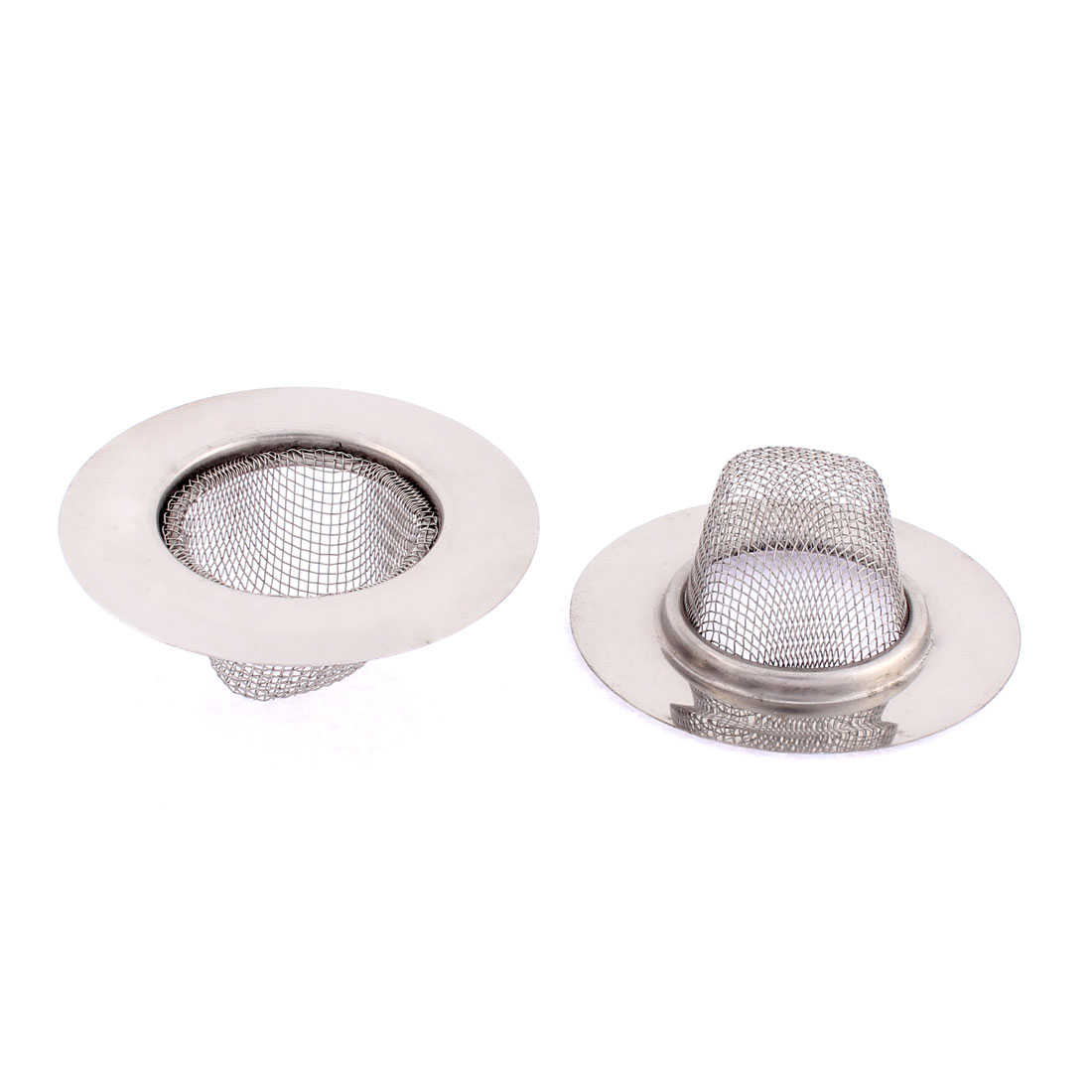 Unique Bargains Kitchen Stainless Steel Basin Wire Mesh Sink Strainer 73mm Dia 2 Pcs