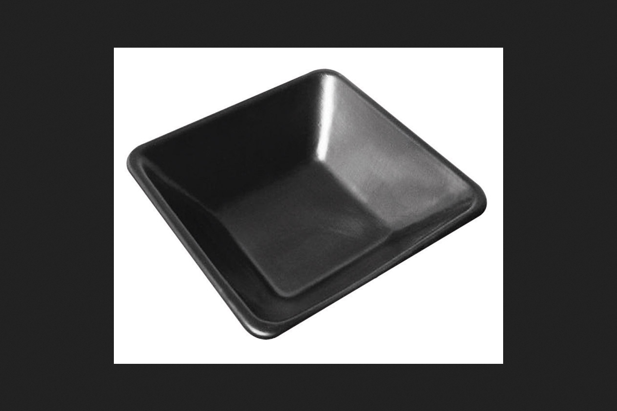 Maccourt Products MP3007 Mortar Pan, Black Polyethylene, 29 x 29 x 6-In.