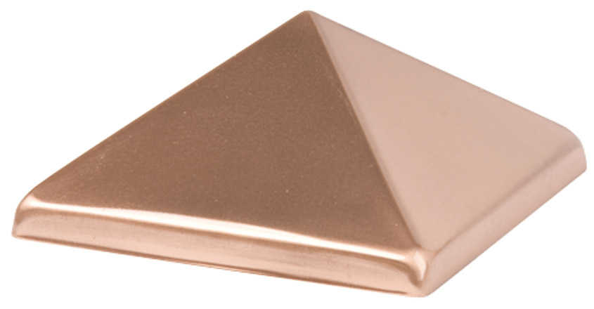Waddell Manufacturing 230 4' x 4' Copper Pyramid Post Cap