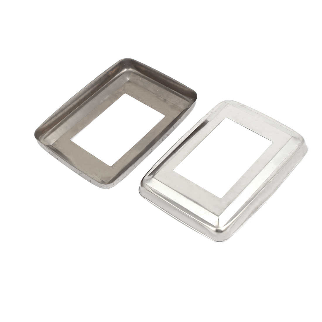 Unique Bargains 15pcs Ladder Handrail Hand Rail 60mm x 40mm Post Plate Cover 201 Stainless Steel