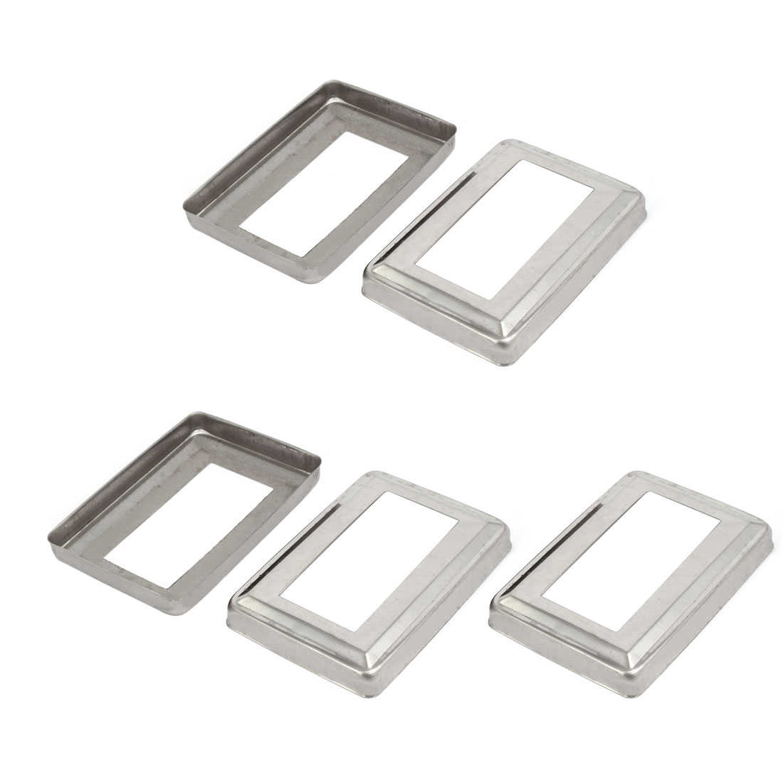 5pcs Ladder Handrail Hand Rail 95mm x 45mm Post Plate Cover 201 Stainless Steel