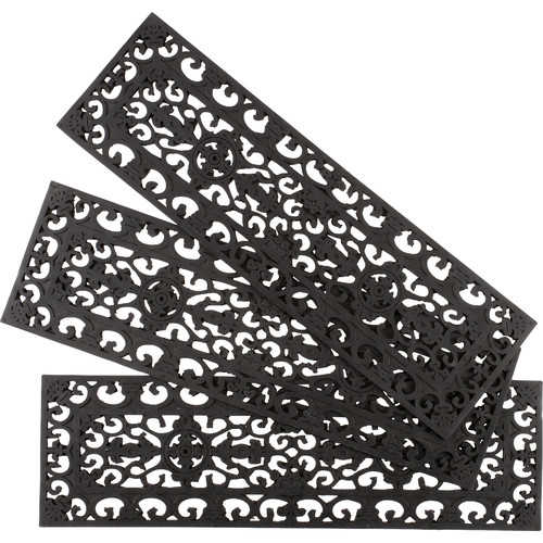 Fleur De Lis Living Whetstone Black Fleur Di Lys Stair Tread (Set of 3)