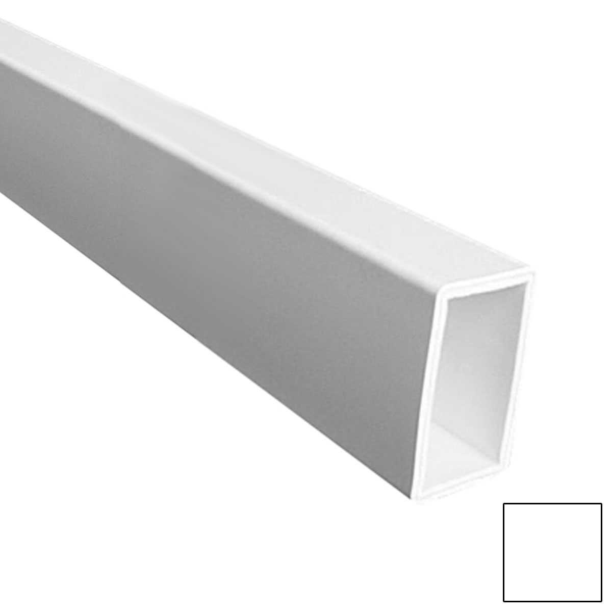 10'L Flat Straight Bottom Rail (For Square spindles), White