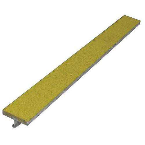 WOOSTER PRODUCTS WP24AYEL5 Safety Stair Strip, Yellow, Extruded Alum