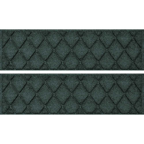 Bungalow Flooring Aqua Shield Evergreen Argyle Stair Tread (Set of 4)