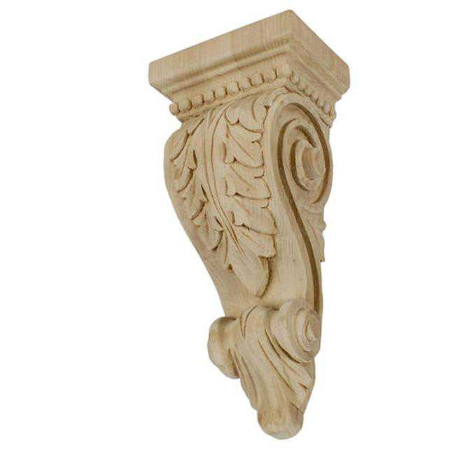 American Pro Decor 5APD10517 Extra small Carved Wood Corbel