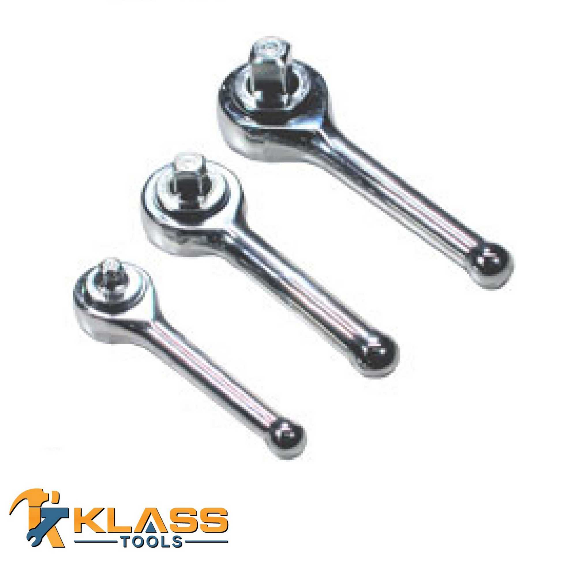 3PC STUBBY RATCHET 3/8-1/4-1/2'