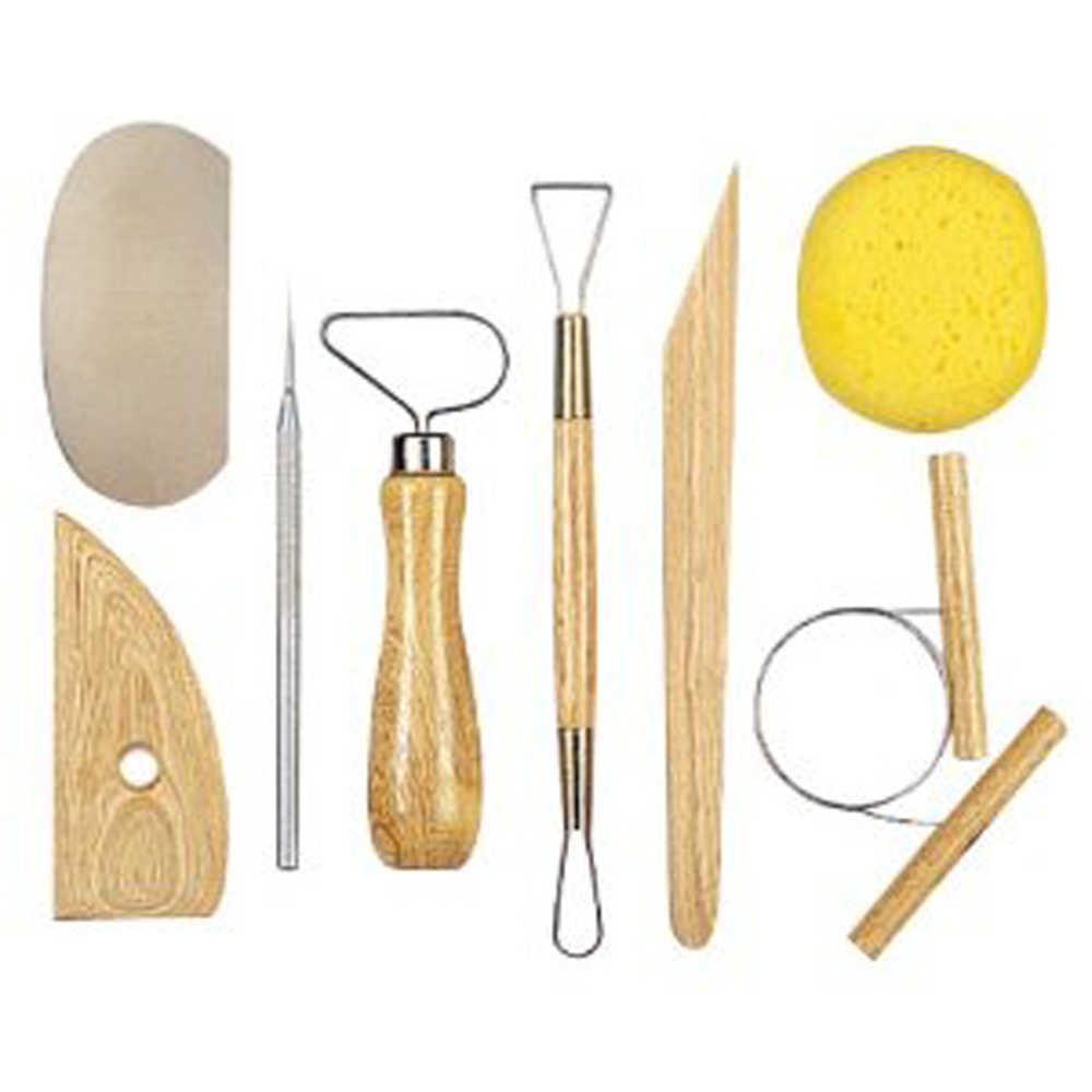 JSP??Lot of 5 Clay Pottery Tool Kits 8 Pc T Ceramics Wax Carving Sculpting Molding
