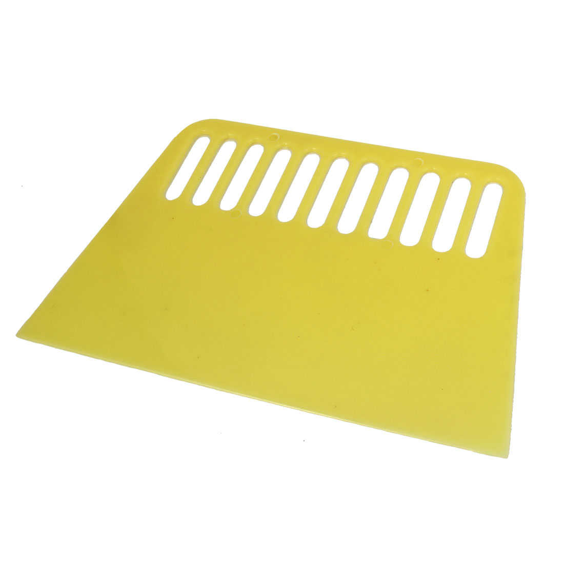 Unique Bargains House Wall Wallpaper Painting Tool Plastic Handheld Putty Scraper Light Yellow