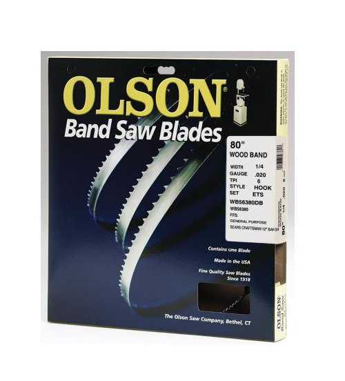 Olson Saw WB56380DB Bandsaw Blade, .25 x 80-In., 6-TPI