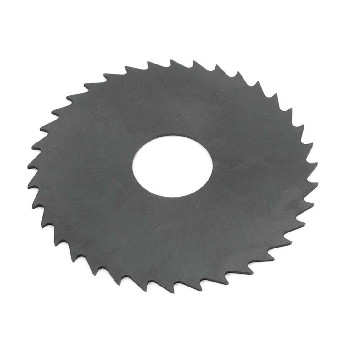 8cm x 0.1cm x 2.2cm 36 Teeth HSS Slitting Saw Blade Cutting Tool Black