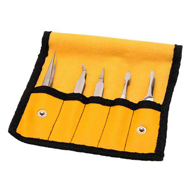 Aven 18473 General Purpose Tweezers Set - 5 Piece