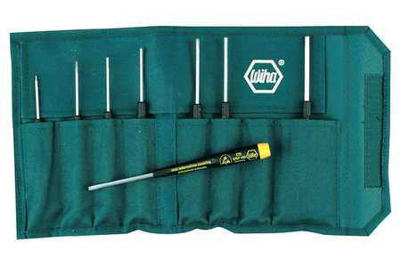Wiha Tools Precision Screwdriver Set, High Alloy Chrome Vanadium Molybdenum Steel, 27591