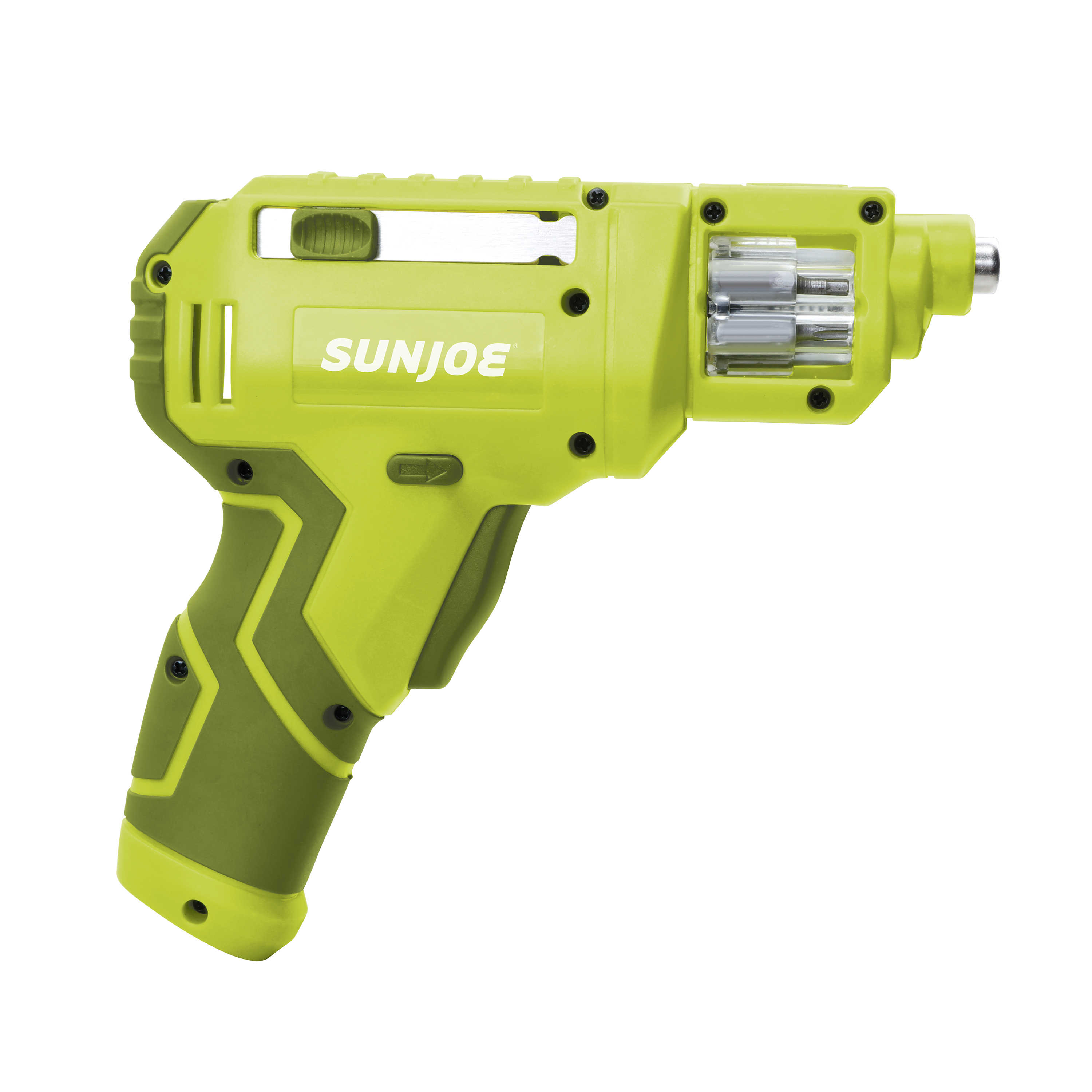 Sun Joe SJ4VSD Lithium-Ion Cordless Rechargeable Power Screwdriver | 4-Volt MAX w/ Quick Change Bit System