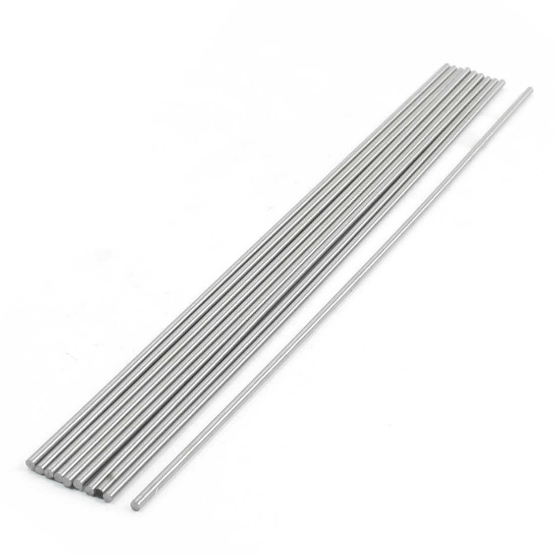 Unique Bargains 2mm x 200mm Graving Tool Round Turning Lathe Bars Silver Tone 10 Pcs