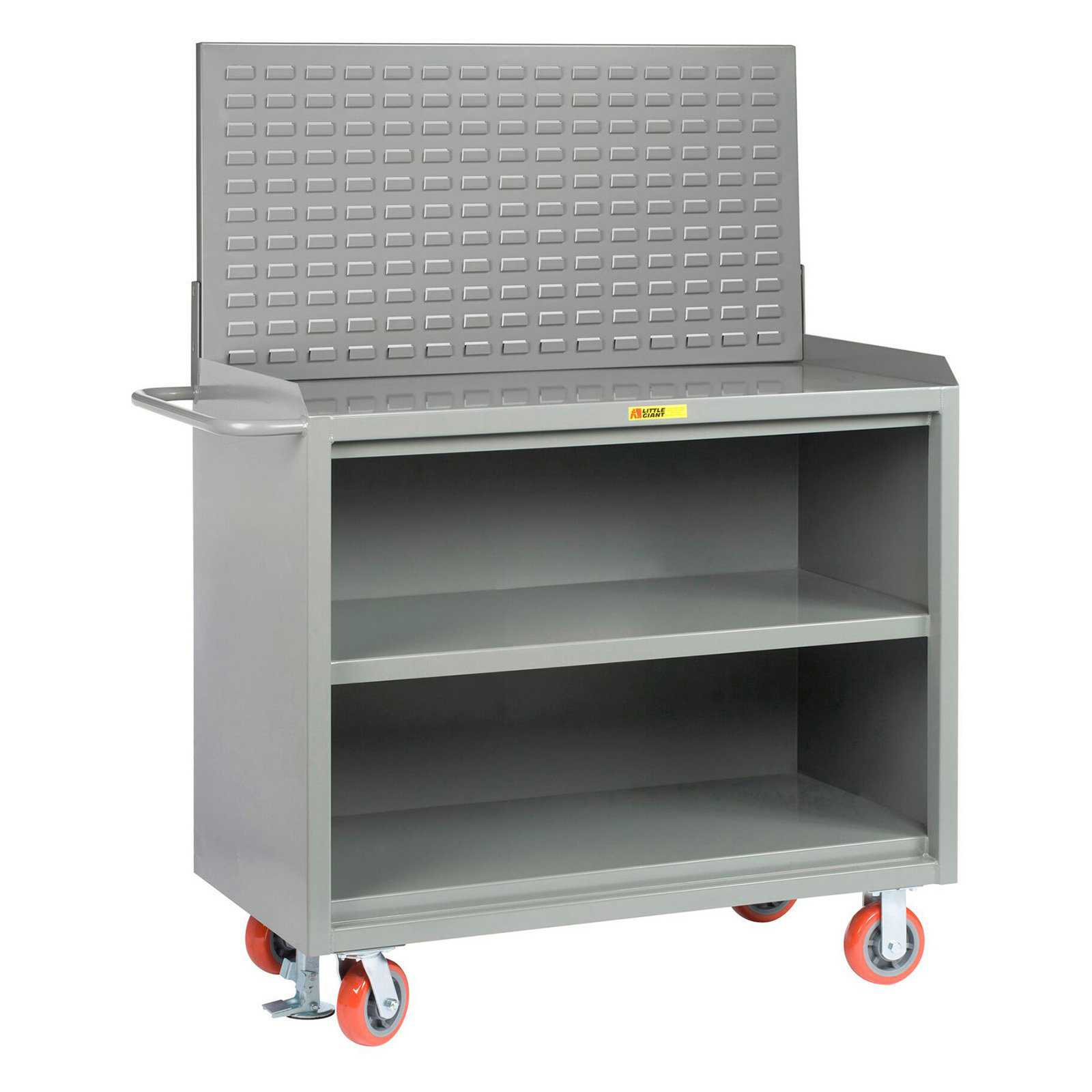 Little Giant 48 in. Mobile Bench Cabinets with Louvered Panel