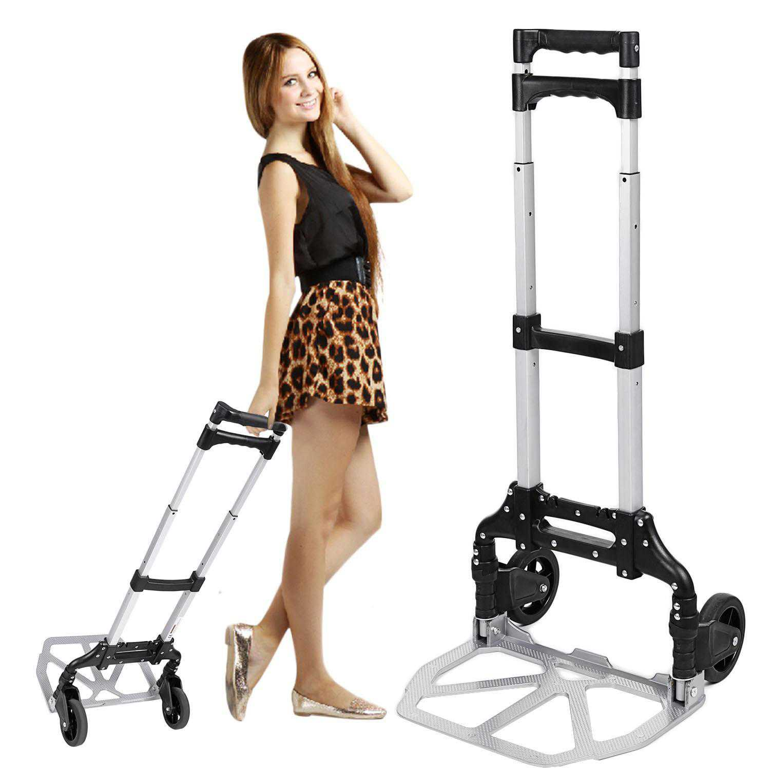 Telescoping Portable Folding Hand Truck Dolly Luggage Carts MAEHE