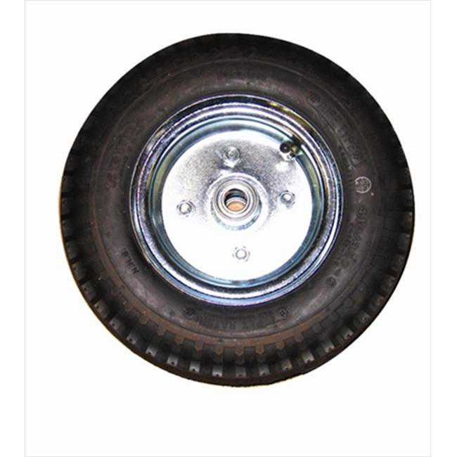 Wesco 053722 2 in. W x 5 in. H x 5 in. D Cast Iron Center Moldon Rubber Wheel