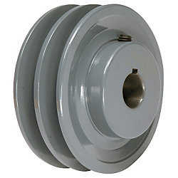 3.95' x 1' Double V Groove Pulley / Sheave # 2BK40X1