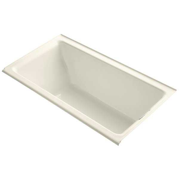 Kohler K-855-R Tea-for-Two Collection 66' Drop In Tub with Integral Tile Flange and Right Hand Drain - White