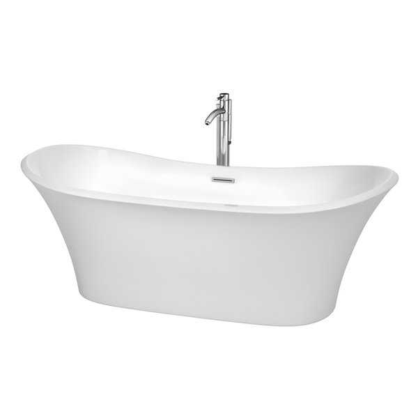 Wyndham Collection Bolera 71-inch Freestanding Soaking Bathtub