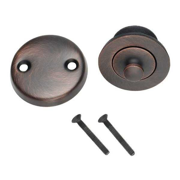 Design House 522359 Lift and Turn Tub Drain with Overflow Cover - Brushed Bronze