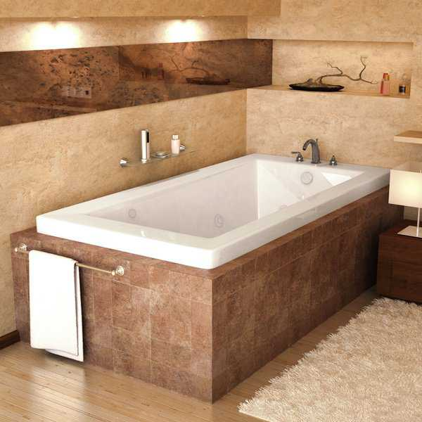 Mountain Home Vesuvius 32x66-inch Acrylic Air and Whirlpool Jetted Drop-in Bathtub - 32x66