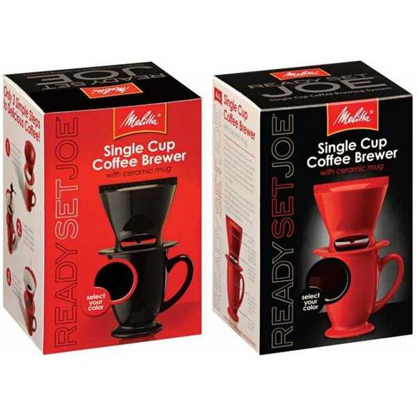 Melitta 64012 1 Cup Assorted Ready Set Joe One Cup Coffee Maker