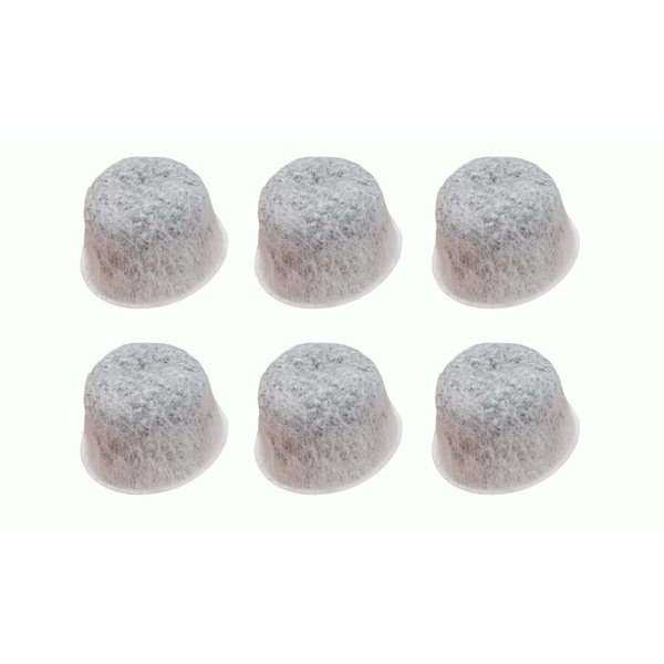 6pk Replacement Charcoal Water Filters, Fits Capresso TEAM MT500, 437, 439, 440, 441 & 454, Compatible with Part 454